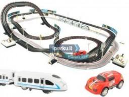 Traukinio ir automobilių trasų rinkinys - IPERKU.LT Greita Patogu Saugu